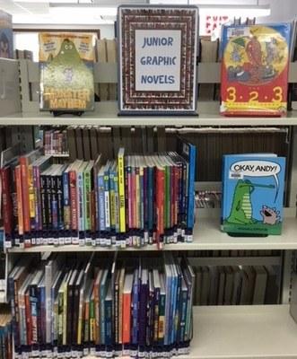 Junior Graphic Novels shelf