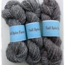 Bundles of grey yarn