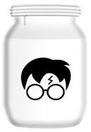 Silhouette Harry Potter Jar.JPG